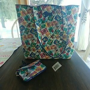 Tote and zip wallet